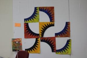 Dancing Batiks - pattern of choice for Pat