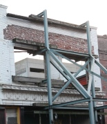 Keeping us all safe while somewhat preserving the original structure. Wonder what will be here next time I make it to Beale Street?
